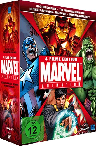 Marvel Animation Vol. 1 (Doctor Strange, The Invincible Iron Man, Ultimate Avengers 1 & 2) [4 DVDs] [Limited Collector's Edition]