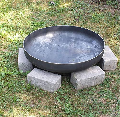 Czaja Stanzteile Klöpperboden Ø 80 cm , Feuerschale aus Stahl, Feuerstelle für Draußen, Feuerkorb