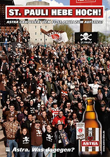 ASTRA Bier Werbung/Reklame Plakat DIN A1 59,4 x 84,1cm St. Pauli Hebe Hoch, kultiges Poster aus St. Pauli