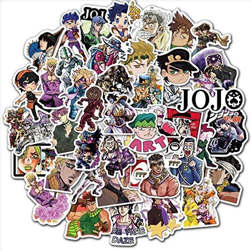 TUHAO Pack Anime Jojos Bizarre Adventure Stickers Laptop Luggage Skateboard Guitar Waterproof PVC Graffiti Sticker Kid Toy 50Pcs/