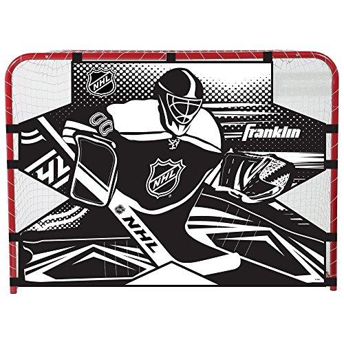 Franklin Sports NHL Hockey-Torwart-Schießziel – Hockey-Tor Übungsziel – Straßenhockeynetz Torwart-Ziel – einfach anzubringende Zielscheibe – 137,2 x 111,8 cm