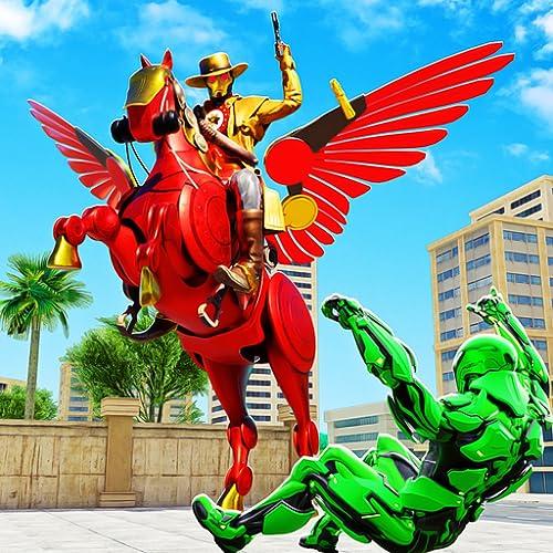 Flying Horse Transform Robot Cowboy Robot Games – Super Robot Battle With Robot Transforming Games. Download Mech Robot Fighting Games Free & Enjoy Futuristic Robot Shooting Games